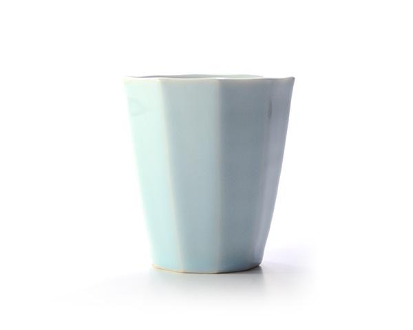 和食器 青白磁面取フリーカップ  作家「山本雅彦」
