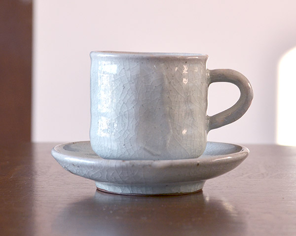 和食器 美濃粉引珈琲碗  作家「林隆一郎」
