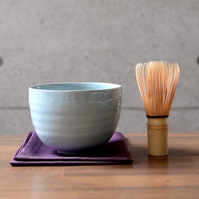 青磁茶碗(共箱付A) 作家「林隆一郎」