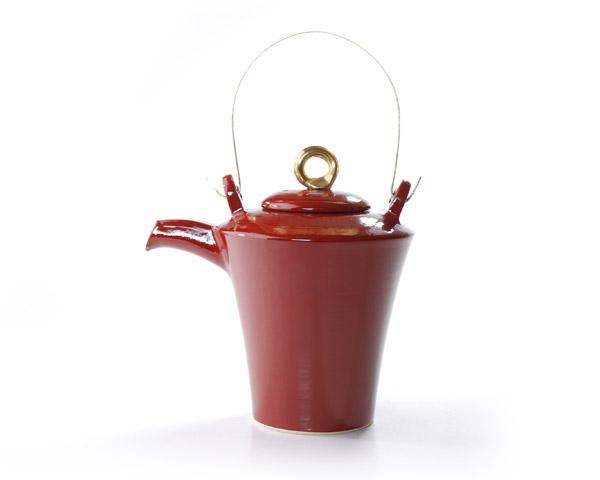 和食器 赤絵金彩酒注 作家「森野知子」