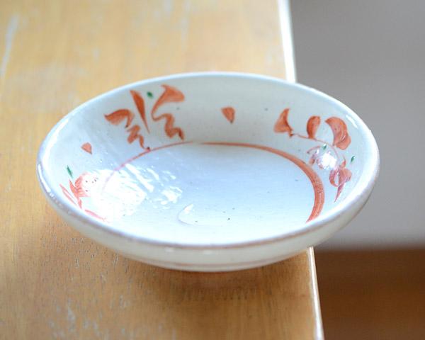 和食器 粉引赤絵六寸鉢 作家「荒木義隆」