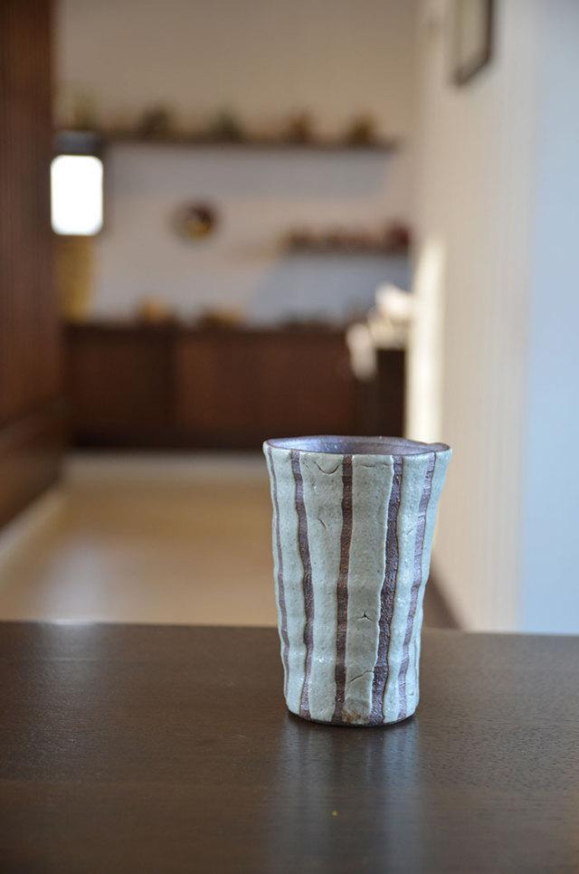 灰釉フリーカップ 作家「多屋嘉郎」