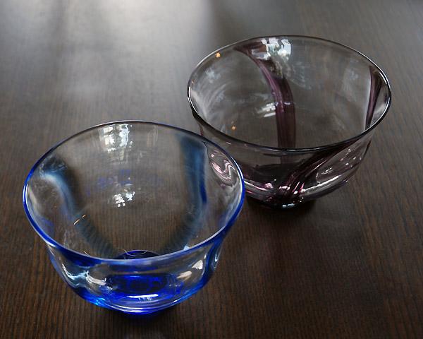 ガラス 十字小鉢 作家「山本芳伸」