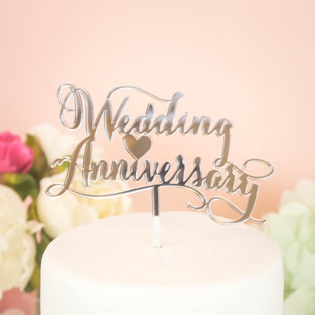 ケーキトッパー Wedding Anniversary