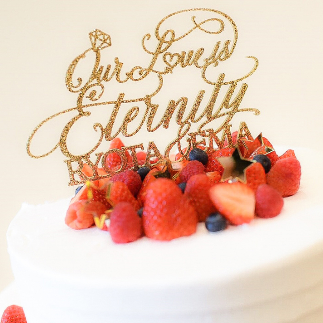 ケーキトッパー our love is Eternity