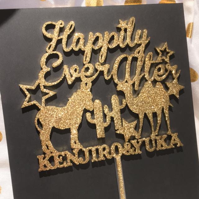 ケーキトッパー Happily Ever After