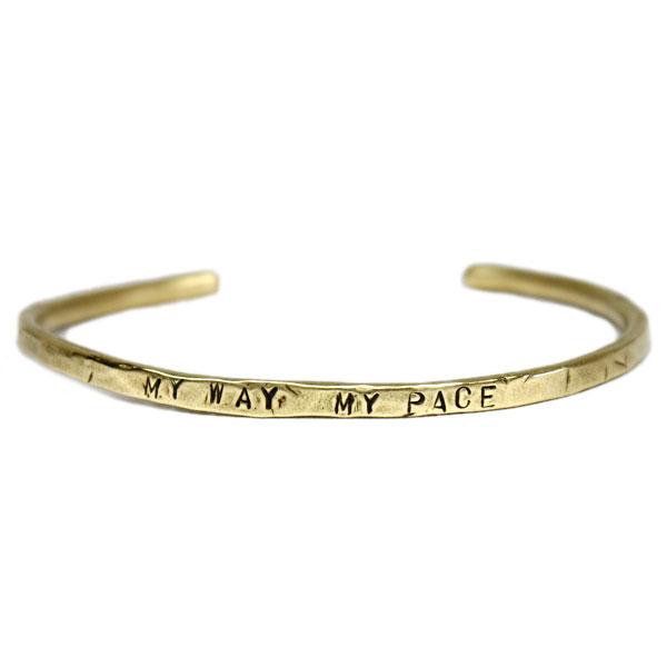 VASSER(バッサー)My Way My Pace Brass Bangle(マイウェイマイペースブラスバングル)