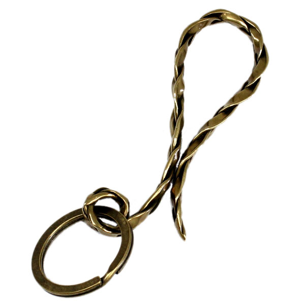 VASSER(バッサー)Vintage Woven Key Chain Brass(ビンテージウーブンキーチェーンブラス)