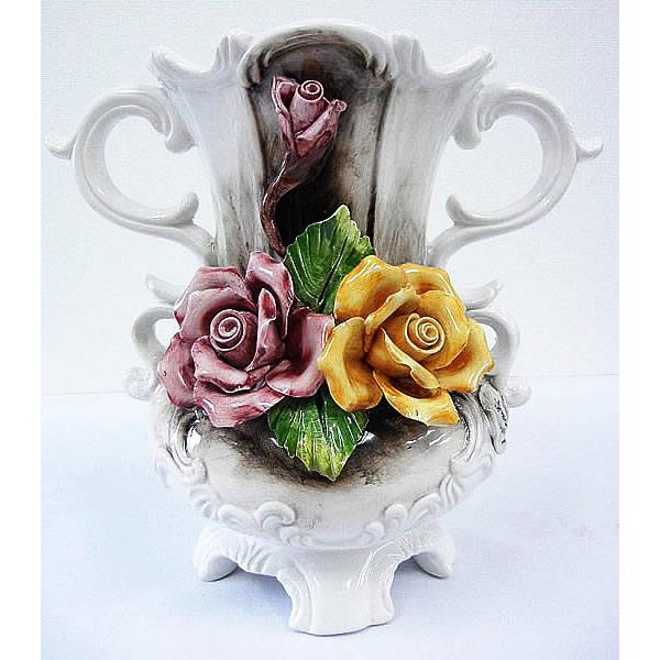 陶花花瓶 180-2
