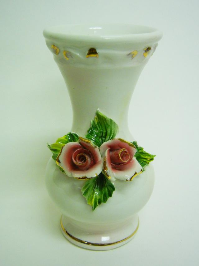 花瓶 6009RV  カポディモンテ陶器   バッサーノ
