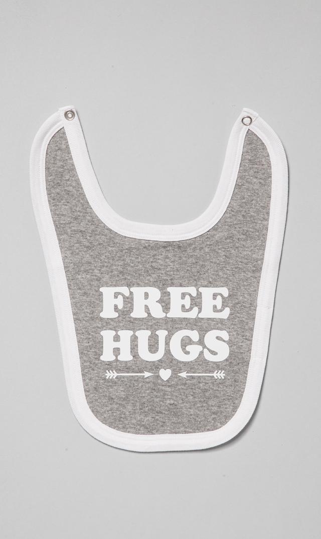 【フレンチ ヤミー】FREE HUGSビブ(グレー)