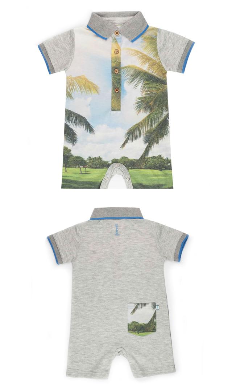 【フォア】襟付きロンパース(ゴルフアイランド)6~18ヶ月