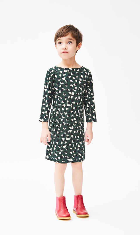 【 リトルレオタ(Little LEOTA)】ヌーヴォードレス(グリーンフリンジハンター)2-6歳