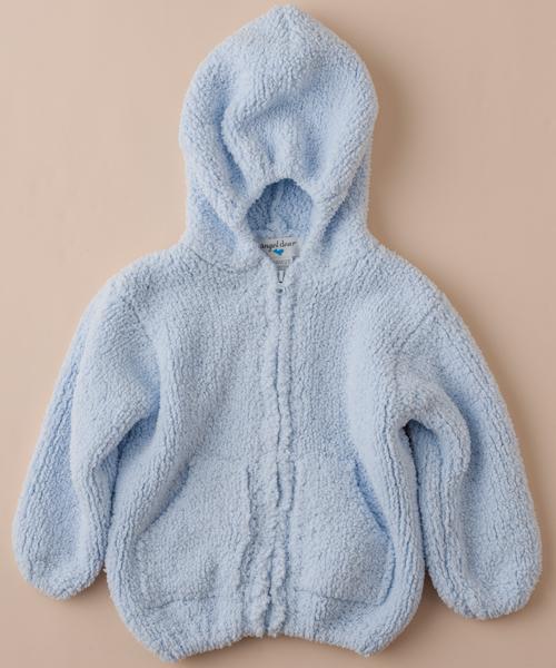 【エンジェルディア】シェニールフーデッドジャケット(ライトブルー)0~24ヶ月