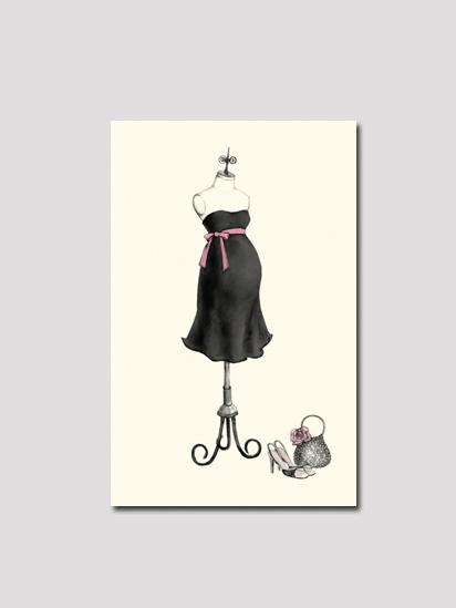 【ボニーマーカスコレクション】エクスぺクティングドレス・サンキューカードセット(ブラック)(8枚入り)