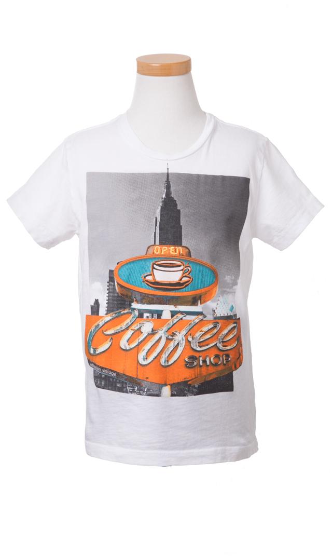 【カリフォルニア ヴィンテージ】コーヒーショップTシャツ4-12歳