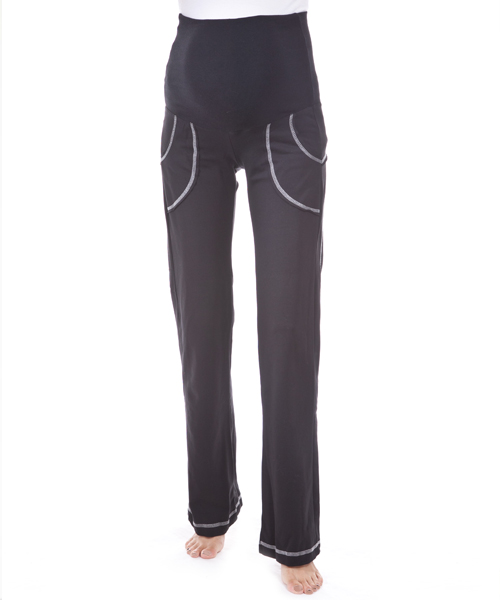 【ナインファッション(9fashion)】フィットママパンツ(ブラック)