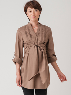 【ナインファッション】イシスクラシックシャツ(カプチーノ)