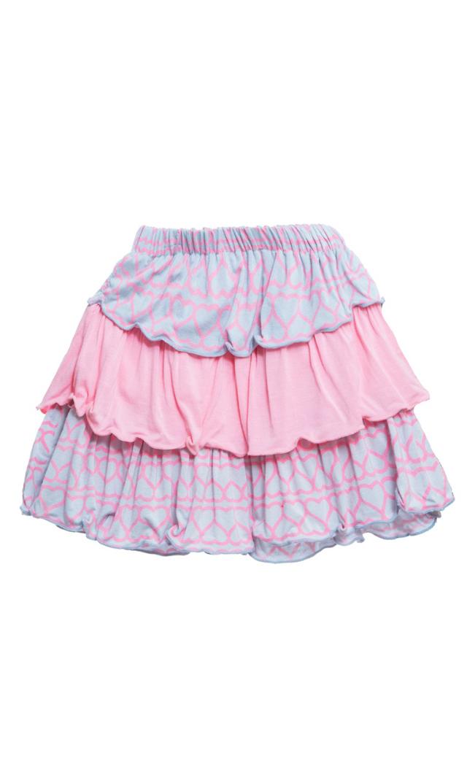 【キッキー パンツ】レイヤードラッフルスカート(ハート)/3-6ヶ月