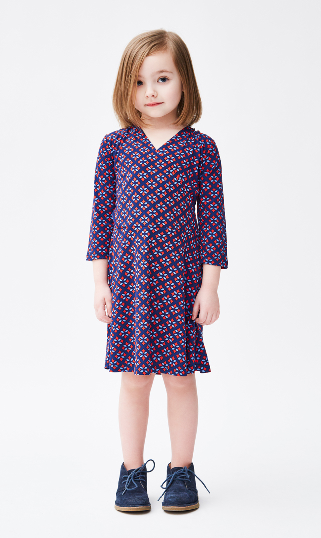 【 リトルレオタ(Little LEOTA)】パーフェクトダブルラップドレス(フルール・ド・リス )/2-6歳