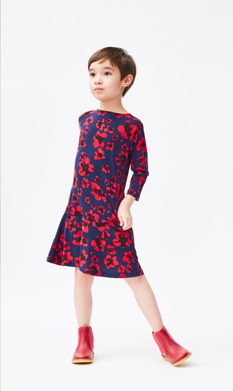 【 リトルレオタ(Little LEOTA)】ケルシードレス(レッドパンジー)2‐6歳