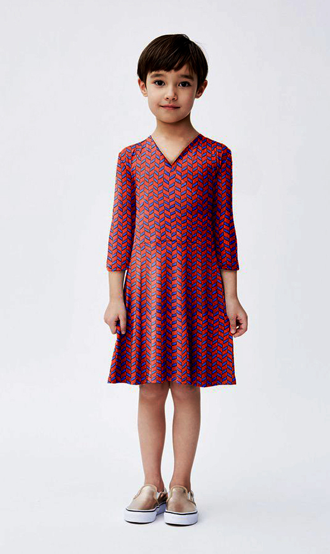 【 リトルレオタ(Little LEOTA)】パーフェクトダブルラップドレス(フレンチブリッドベリー)2-6歳