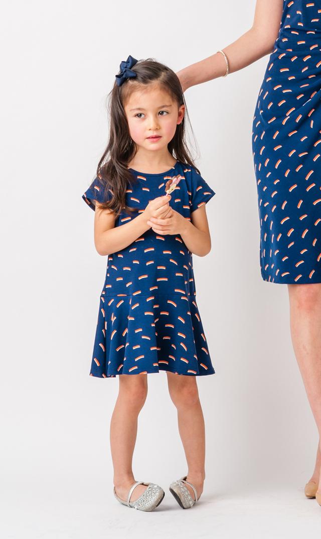 【リトルレオタ(Little LEOTA)】ケルシーショートスリーブドレス(リブレ)3-7歳