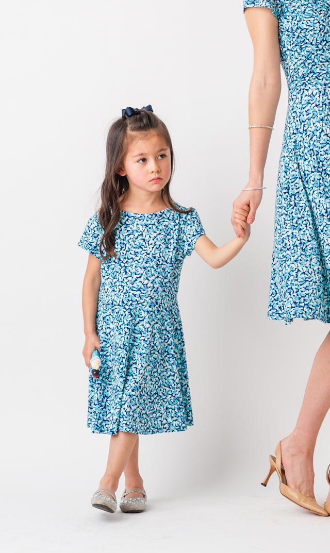 【リトルレオタ(Little LEOTA)】イラーナショートスリーブドレス(ミスティメイ)2-6歳