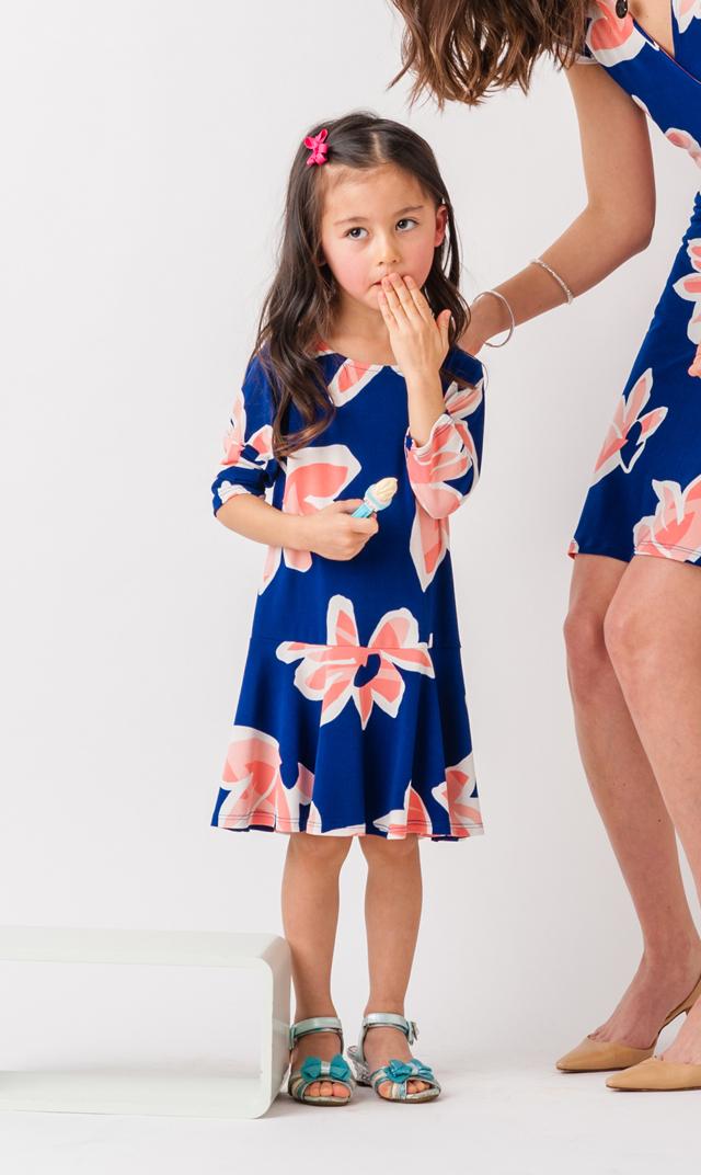 【リトルレオタ(Little LEOTA)】ケルシードレス(ウォーターリリー)2-7歳