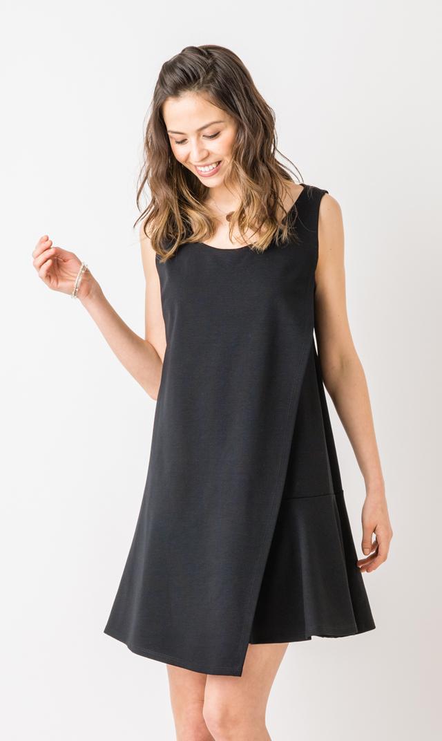 【マターナルアメリカ(maternal america)】コンバーチブルナーシングドレス(ブラック)