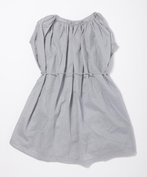 【マキエ】スリーブレスドレス(グレードット)