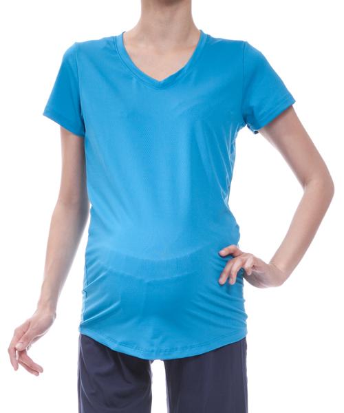 【マウンテン ママ】メッシュTシャツ(ブルー)