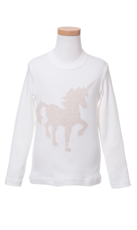 【Ohbaby!(オーベイビー】Uicorn ロングTシャツ(クリーム)2-4歳