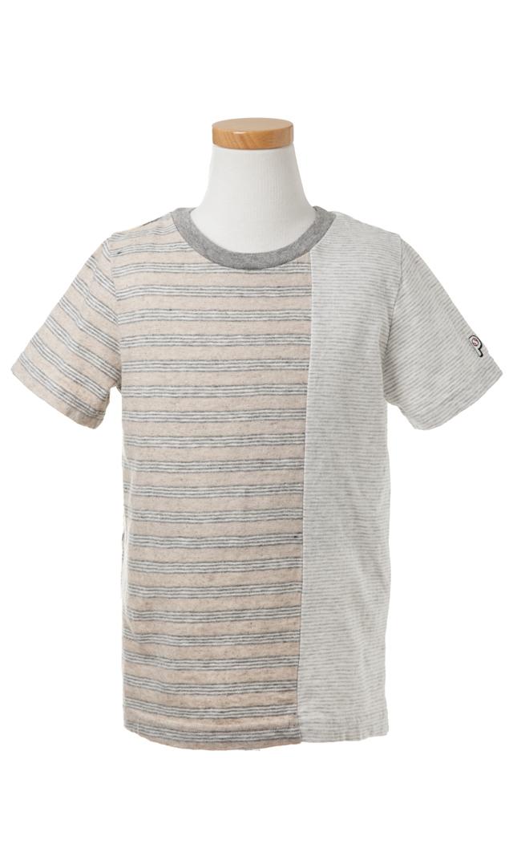 【ザパークショップ】ボーダーTシャツ(グレー)