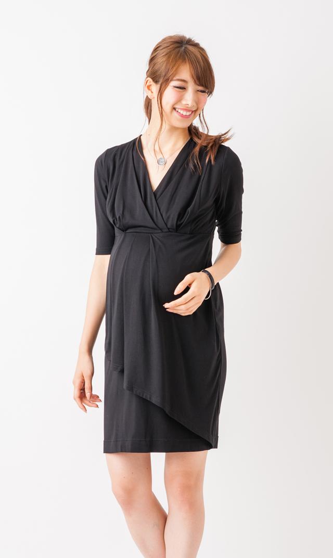 【ライプ(RIPE)】ナーシングステップフロントドレス(ブラック)