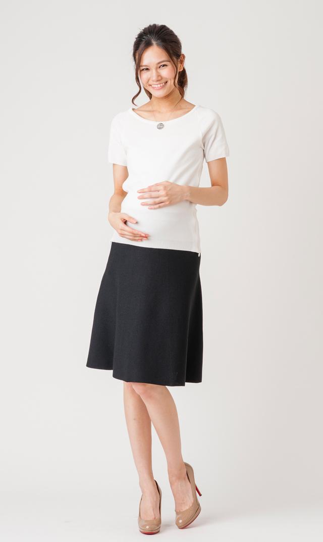 【スーン】ブルックリンクレープスカート(ブラック)