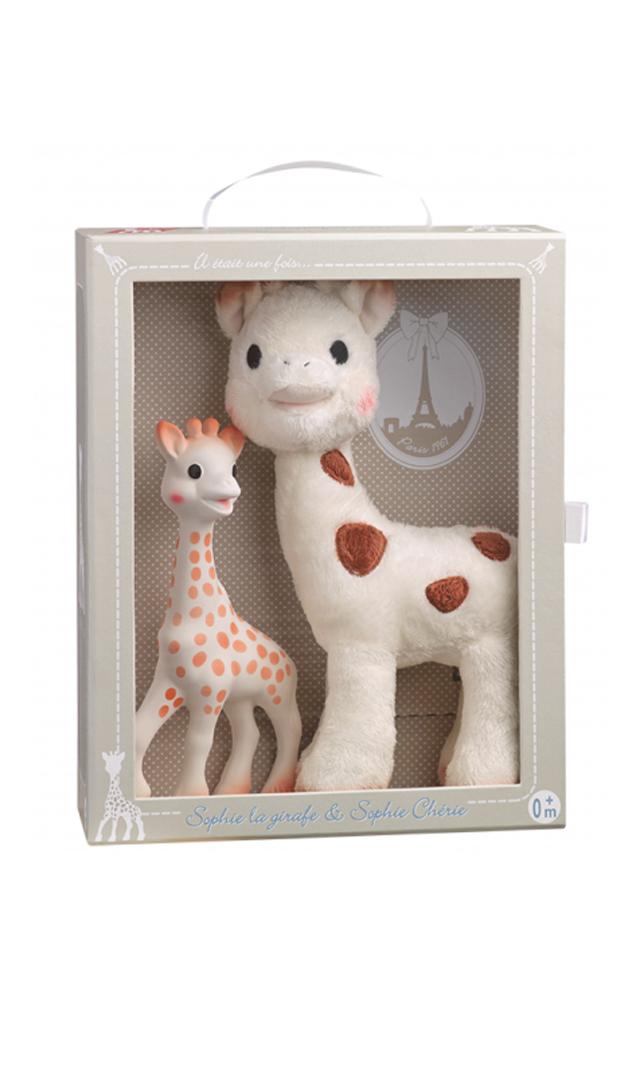 【キリンのソフィー(Sophie la girafe) 】 ソフィーとシェリーぬいぐるみセット