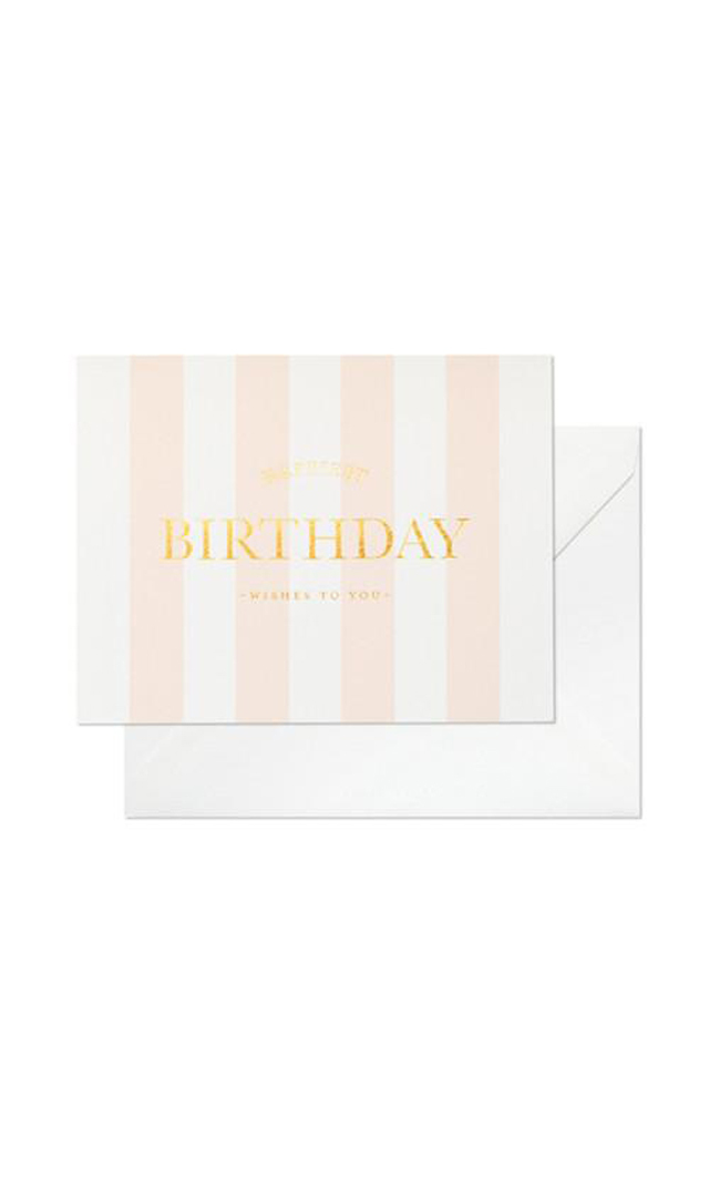 【シュガーペーパー(SugarPaper)】HAPPIEST BIRTHDAY STRIPE