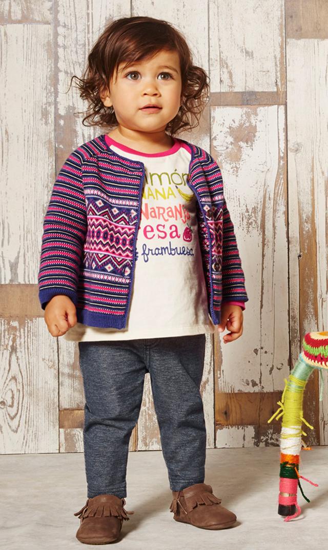 【ティー(TEA)】アントニアニットカーディガン(ベリー)18ヶ月~4歳