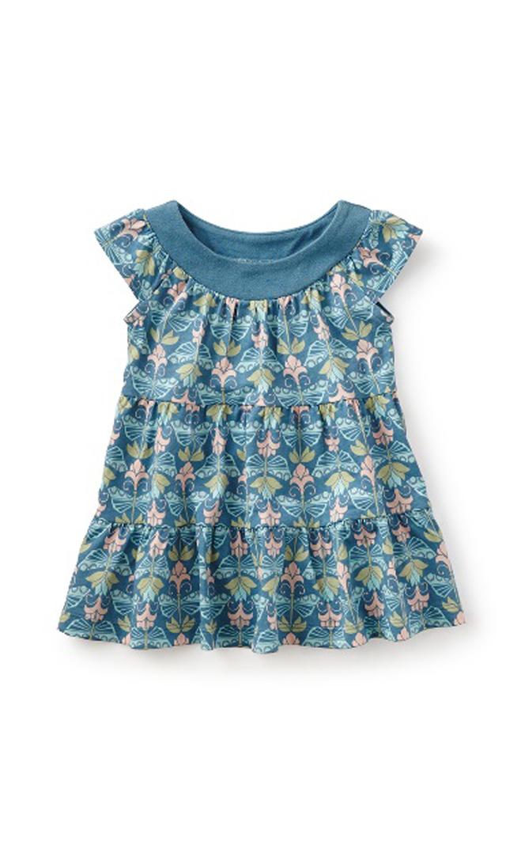 【ティー(TEA)】ハイデンバタフライベビードレス(サンドグリーン)3-24ヶ月