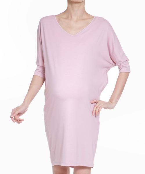 【VIRINA(ヴィリーナ)】クールVネックナーシングドレス(ライトピンク)