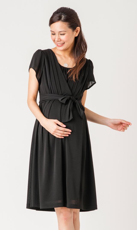 【ヴィリーナ(VIRINA)】ナーシングプリーツドレス(ブラック)