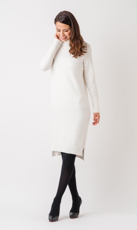 【ヴィリーナ(VIRINA)】タートルナーシングニットドレス(ホワイト)