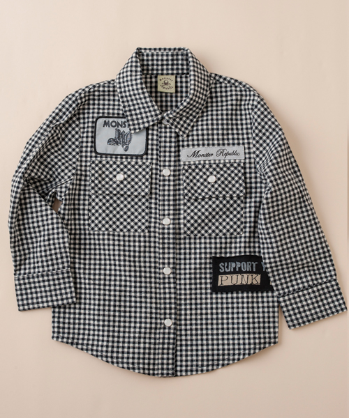 【モンスター リパブリック】チェックシャツ(ブラック)