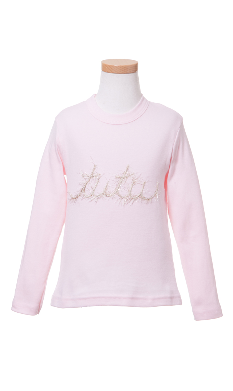 【Ohbaby!(オーベイビー】Tutu ロングTシャツ(ピンク)2-4歳