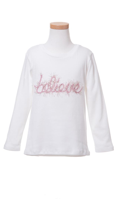 【Ohbaby!(オーベイビー】Believe ロングTシャツ(クリーム)2-6歳