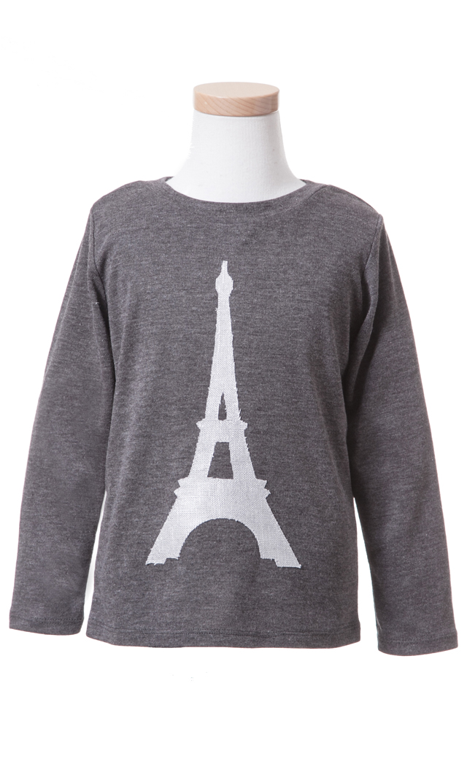 【Ohbaby!(オーベイビー】Eiffel Tシャツ(チャコール)2-6歳