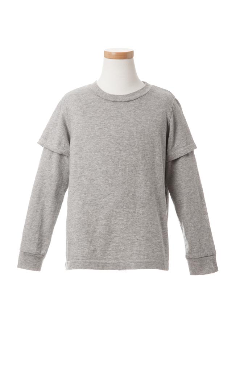 【ザパークショップ】ダミーレイヤードTシャツ(グレー)