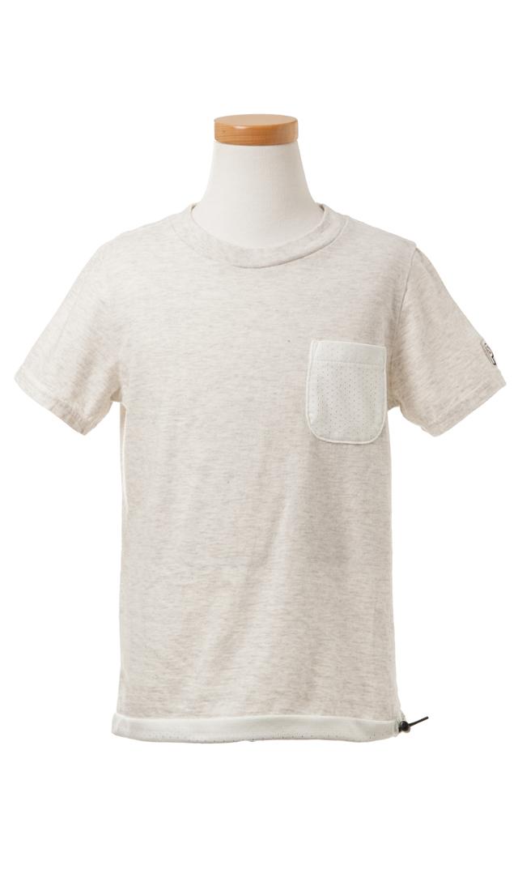 【ザパークショップ】メッシュポケットTシャツ(ホワイト)