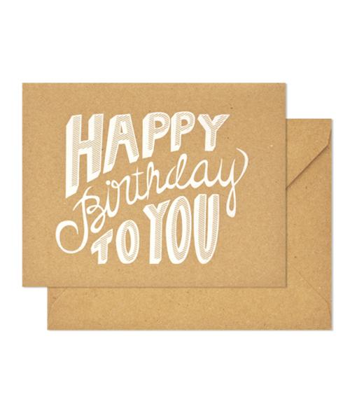 【シュガーペーパー】birthday to you, kraft
